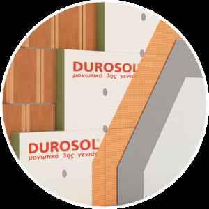 Θερμομονωτικό υλικό 3ης γενιάς Durosol που χρησιμοποιείται στη θερμομόνωση ταράτσας